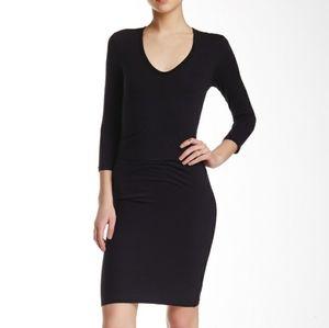 James Perse Standard Womens Black Knit Midi Dress